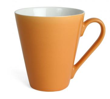 Mugg Attila, orange/vit