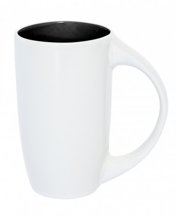 Mugg Diana, vit/svart