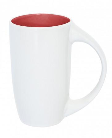 Mugg Diana, vit/röd