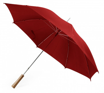 Paraply stormsäkert, röd