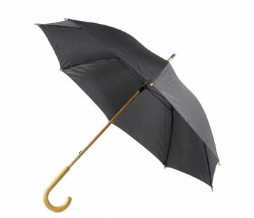 Paraply m träkrycka, svart