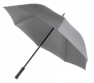 Paraply m gummihandtag, grå