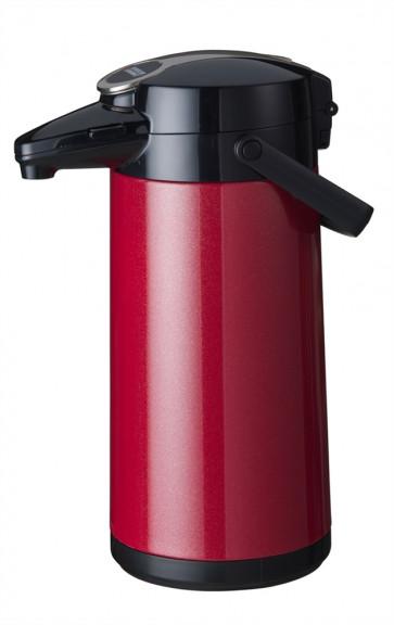 Bonamat pumptermos 2,2 liter Röd Metallic