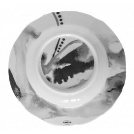 Tallrik djup Ø 23cm Juno, grå