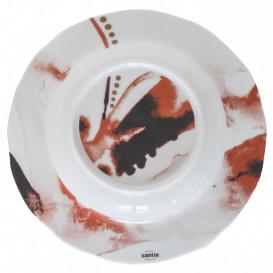 Tallrik djup Ø 23cm Juno, röd