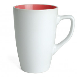 Mugg Apollo, vit/röd