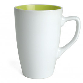 Mugg Apollo, vit/lime