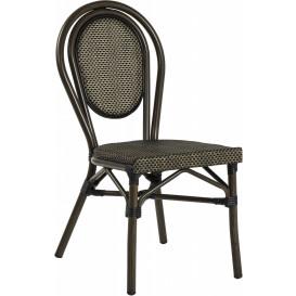 Rennes stol, svart/brun textylene