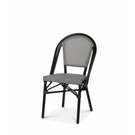 Menton stol, svart/svartvit