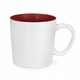 Mugg Aurora, vit/röd
