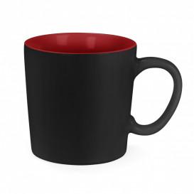 Mugg Aurora, svart/röd