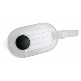 Bagagebricka oval, transparent