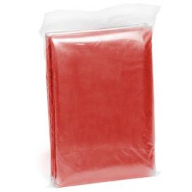 Engångsponcho, röd