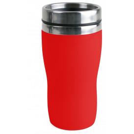 Bilmugg plast liten, röd