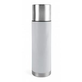 Ståltermos 0,75 L, stål/vit