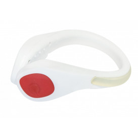 LED ljus klämma, vit/röd