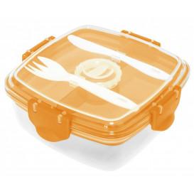 Lunch box, orange