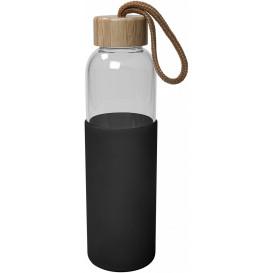 Glasflaska/silikon 0,55 L. Svart.