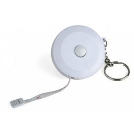 Nyckelring med måttband, vit