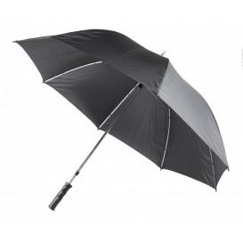 Paraply m rakt handtag, svart