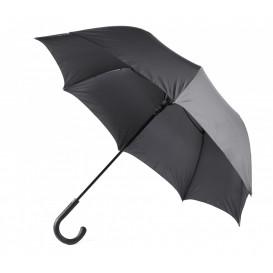 Paraply m gummikrycka, svart