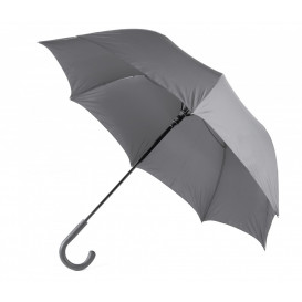 Paraply m gummikrycka, grå