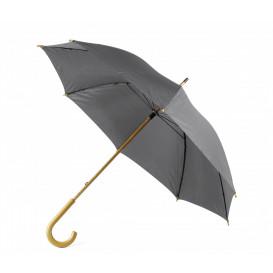 Paraply m träkrycka, grå