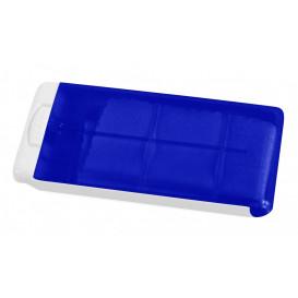 Putsduk i ask, blå