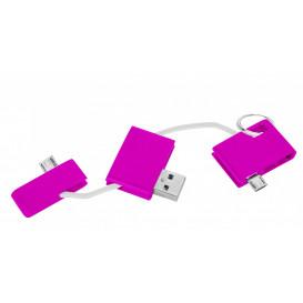 Laddare USB, cerise