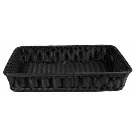 Brödkorg 53x32,5cm, svart