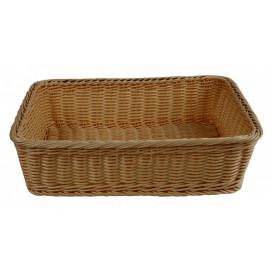Brödkorg 38x29cm, brun