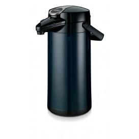 Bonamat pumptermos 2,2 liter blå Glaskärna