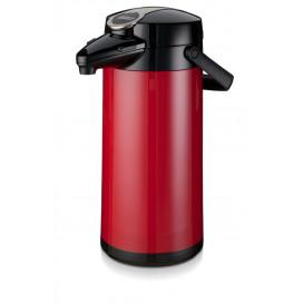 Bonamat pumptermos 2,2 liter Röd (Glas kärna)