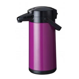 Bonamat pumptermos 2,2 liter Lila Metallic